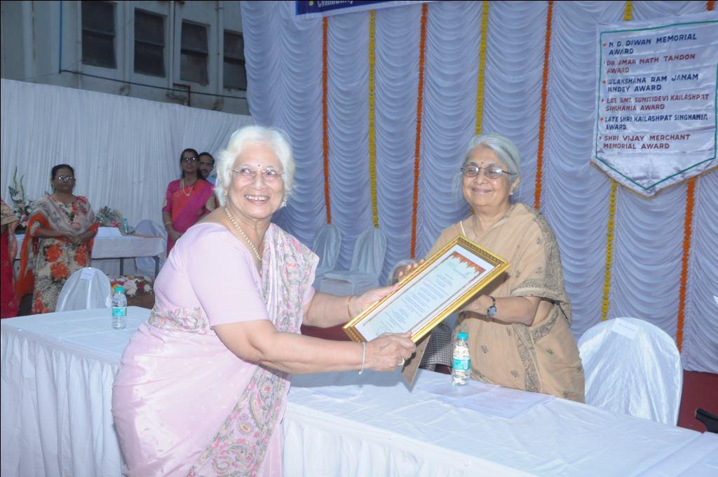 Dr. Amar Nath Tandon National Award 2019 to Mrs. Sheela Chitnis